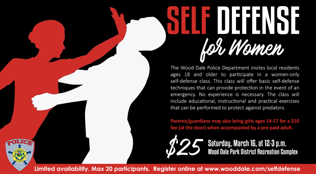 Self Defense For Women and Girls | City of Wood Dale, IL