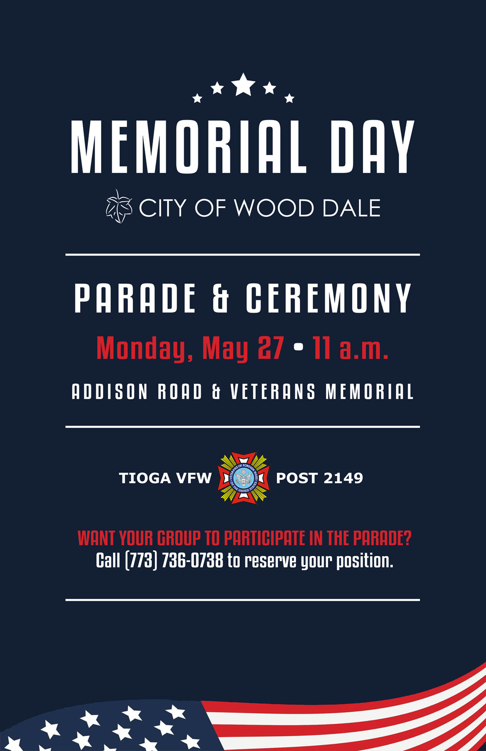 Wooddale Illinois Map.Memorial Day Parade City Of Wood Dale Il